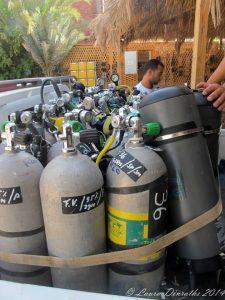 Insgesamt wurden unglaubliche 92 Tanks für Ahmed und das Team benötigt. Foto von H2O Divers Dahab.