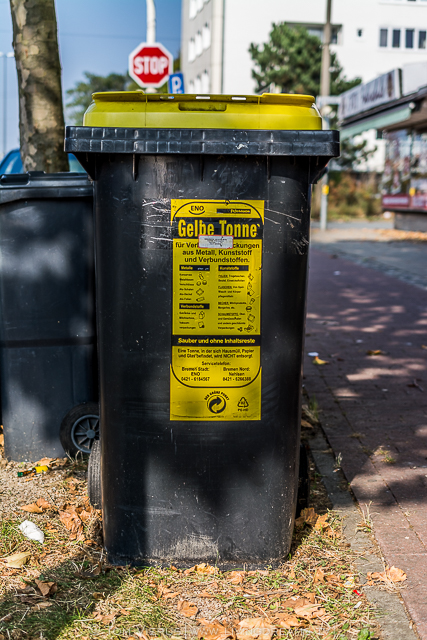 Yellow bag bin
