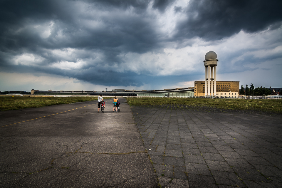 The Old Airport Berlin Tegel on a stormy day
