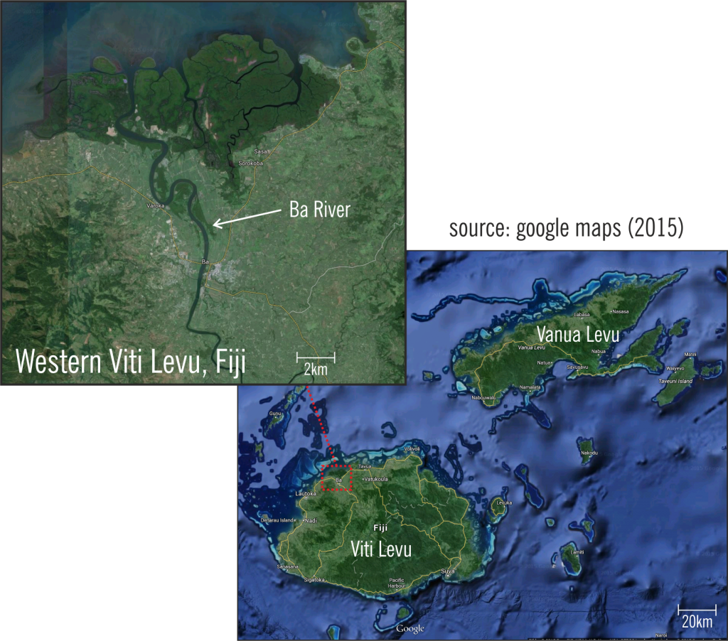 Fiji Map, BA Rver on Viti Levu