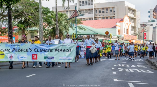 Global Climate March, Pacific islands coming together