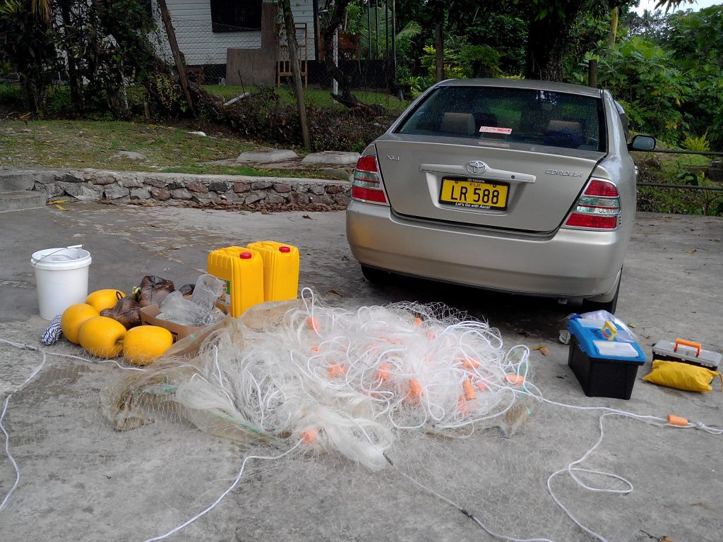 Field Equipment for Shark tagging and releasing in western Viti levu, Fiji
