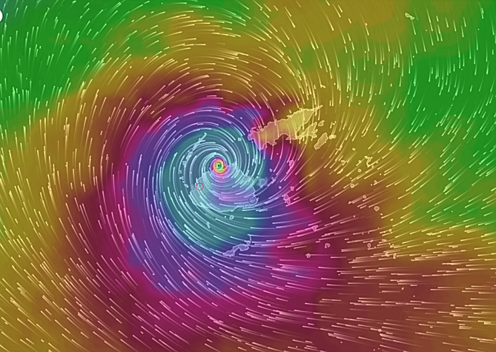 Tropical Cyclone Winston approaching the Fijian islands 2016