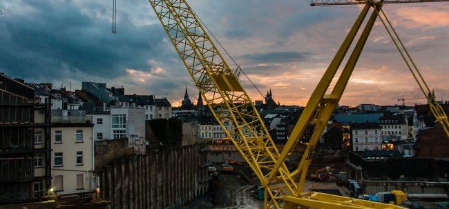 Aachen dramatic sky