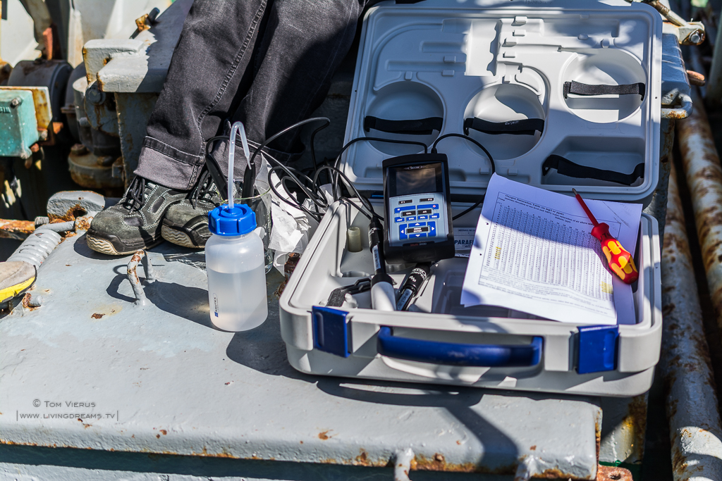 Water Parameter Test on the Research Vessel Uthörn