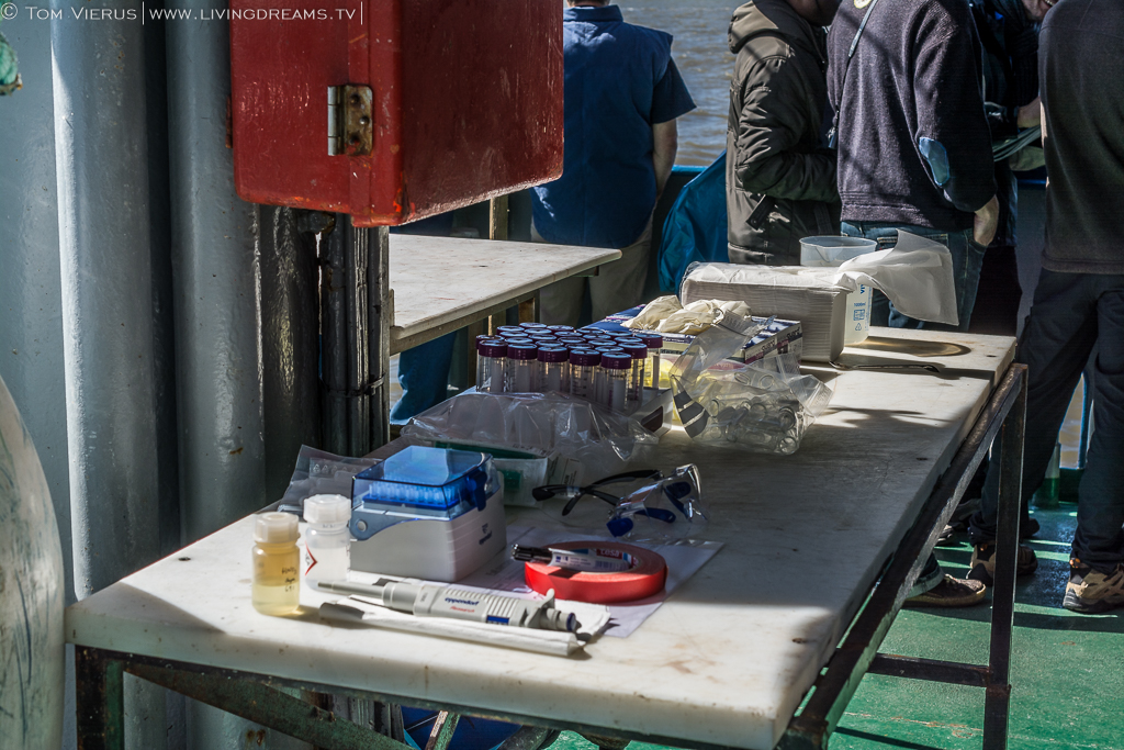 Water Sample on the Research Vessel Uthörn