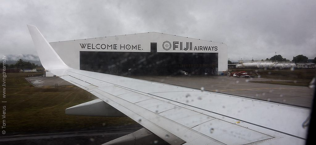 Landing in Nadi, Fiji