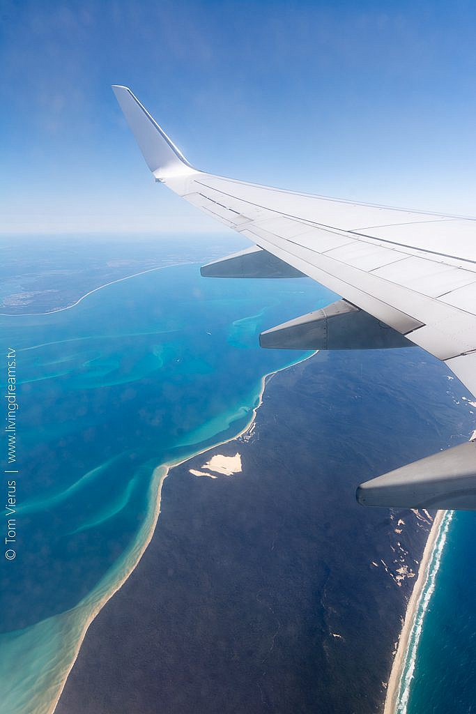 View during Flight from Brisbane, Australia to Nadi, Fiji