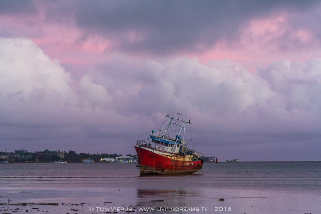 Stranded ship, Cyclone Winston, Lami, 2016
