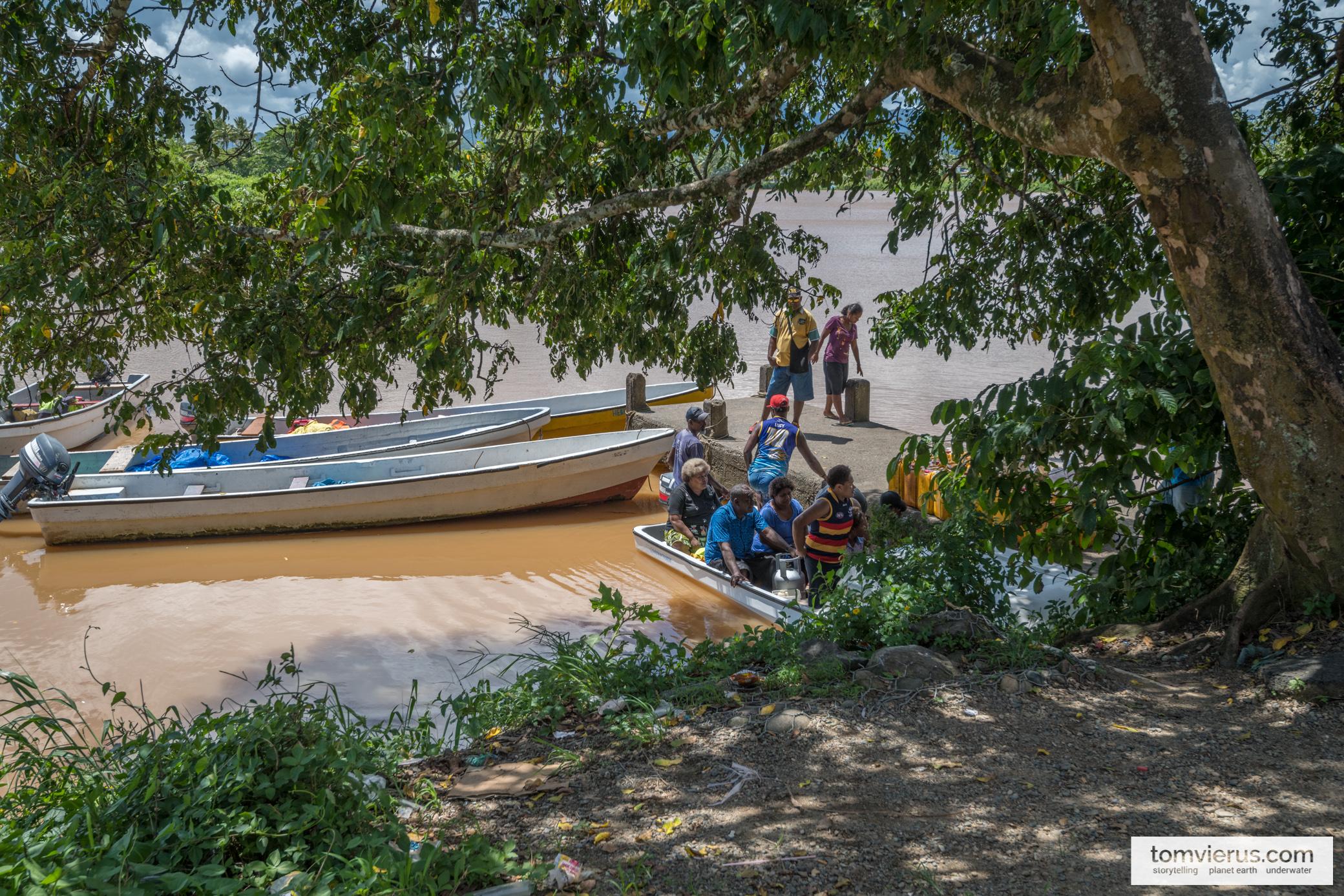 Water taxi to Beqa, Fiji